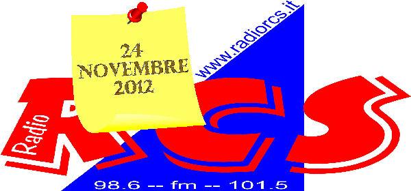 """Come anticipato sabato 24 novembre 2012 alle ore 10.30 sarò ospite alla trasmissione """"Baci e Abbracci"""" su radio Rcs (FM 101.5 – 98.6 – 94.9 – 91.5 sulla provincia di […]"""