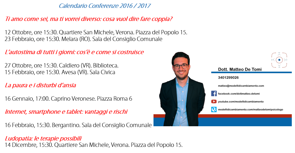 Psicologo Verona Conferenze